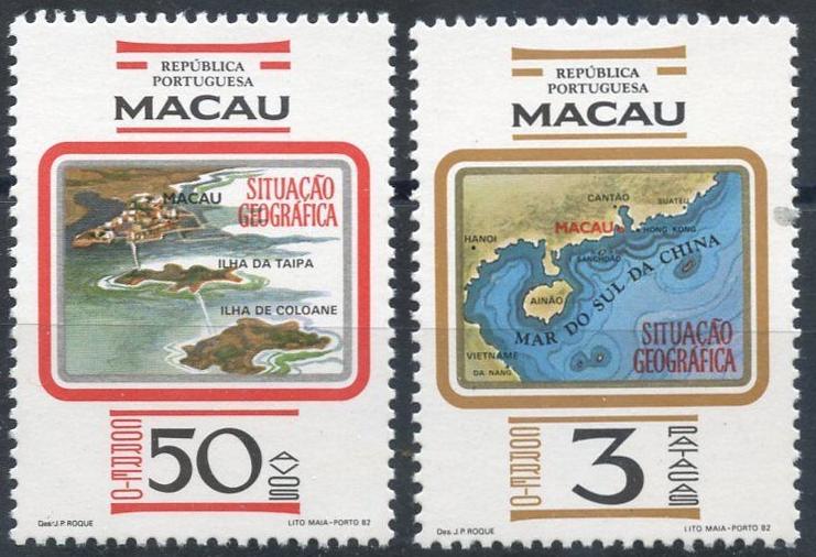 Macao 467-8 YT468-9 SG573-4 Mi495-6 MNH 1982 CV$48 Map Island