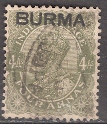 Burma; 1937: Sc. # 9: O/Used Single Stamp