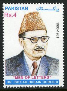 Pakistan 974, MNH. Dr. Ishtiaq Husain Qureshi, historian, 2001