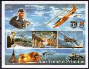 Sao Tome and Principe 2006 Concorde/Olympic Games Beijing /WWII Sheetlet (3) MNH