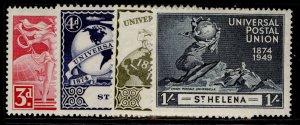 ST. HELENA GVI SG145-148, anniversary of UPU set, NH MINT.