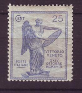 J20290 1921 italy mh #139 victory scv $145.00 light bottom left crease 2nd scan