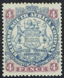 RHODESIA 1896 ARMS 4D LIGHT SHADED LION