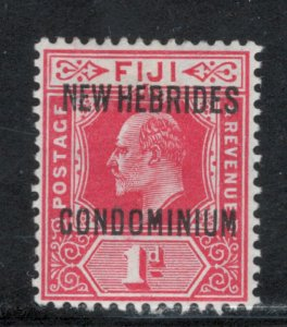 British New Hebrides 1910 Overprint 1p Scott # 11 MH