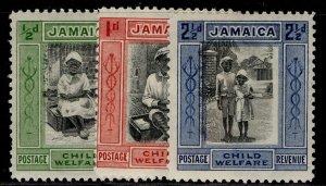 JAMAICA GV SG107-107c, complete set, M MINT. Cat £25.