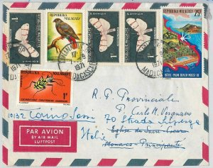 42981 - MADAGASCAR - POSTAL HISTORY - COVER  - INSECTS butterflies  BIRDS 1971