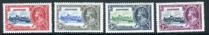 ASCENSION-1935 Silver Jubilee mounted mint set set Sg 31-34