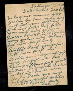 1941 Niedlingen Germany SS Race Resettlement Camp Postcard Cover to Brunn BM