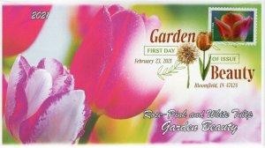 21-074, 2021,Garden Beauty, First Day Cover, Digital Color Postmark, SC 5566,