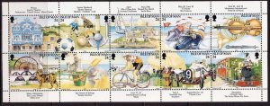 Isle of Man 1994,Tourism , MNH booklet pane sheet # 586a