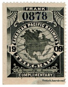 (I.B) Canada Telegraphs : Canadian Pacific (1909)
