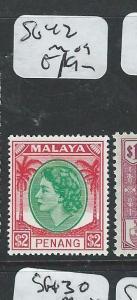 MALAYA PENANG (P1108B) QEII $2.00 SG42  MOG