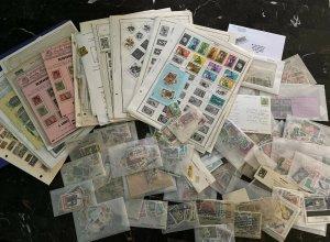 Fantastic Africa Rhodesia Liberia Congo Gambia Stamp Collection Lot MXE