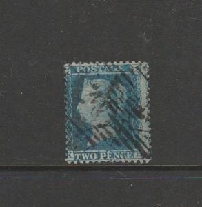 GB 1854/7 stars, 2d Blue, KB, Used SG 34/5, good perfs