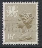 Great Britain Wales  SG W43a SC# WMMH29 Used  perf 15x14 see details phosphor...