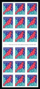 # 2874a Cardinal in Snow Happy Holidays Booklet Pane of 18 29¢ Stamps