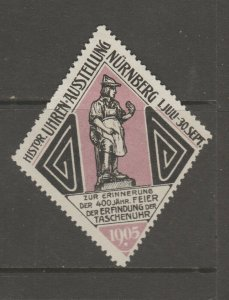 Cinderella revenue fiscal stamp 9-9-60 Germany 1905