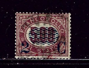 Italy 43 Used 1879 surcharge