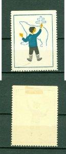 Greenland. 1955 Poster Stamp Cancel. Aid Tuberculosis. Boy, Polar Bear.