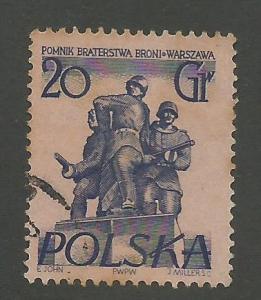 1955 Poland Scott Catalog Number 671 Used