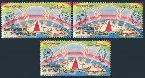 Libya 231-233, MNH. Michel 128-129. Tripoli Fair Gateway of Africa, 1963.