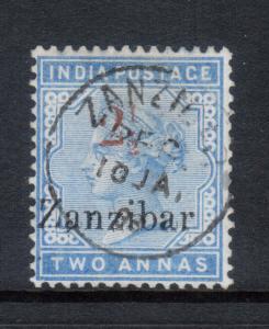 Zanzibar #28 Very Fine Used With Ideal Zanzibar CDS Cancel