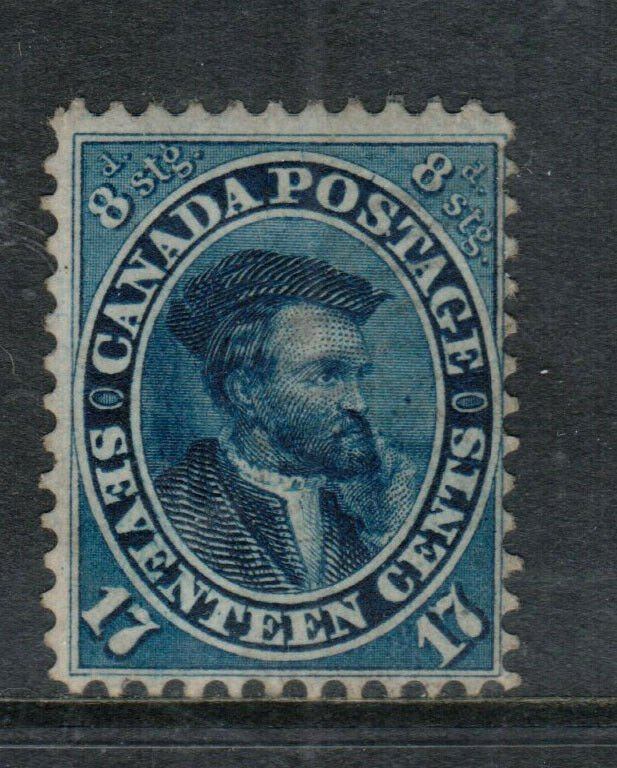 Canada #19 Used Fine+ Barely Cancelled With Part Original Gum **Cert.**