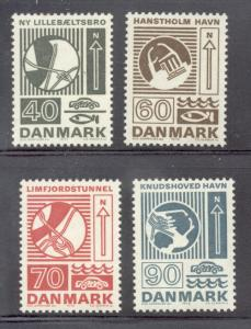 Denmark Sc 509-12 1972 Engineering stamp set mint NH