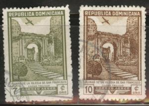 Dominican Republic Scott C70-71 used  Airmails