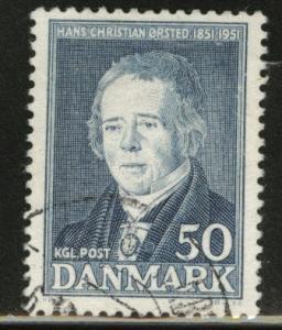 DENMARK  Scott 329 used 1951 stamp