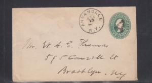 Cover Annandale NY 1891 with Fancy A Postmark