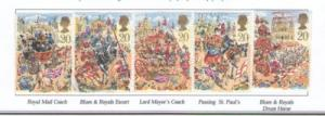 Great Britain Sc 1289-3 1989 Lord Mayor's Show stamps used