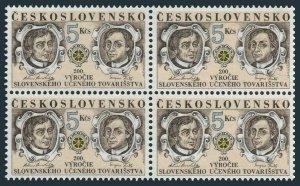 Czechoslovakia 2871 block/4, MNH. Mi 3131. Slovakian Educational Society, 1992.