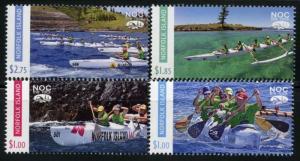 NORFOLK ISLAND 2016 NOC THE ROCK PADDLE CANOEING  SET  MINT NH