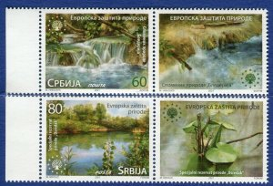 1627 - SERBIA 2021 - European Nature Protection - MNH Set + Label