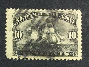 MOMEN: NEWFOUNDLAND #54 1887 USED £75 LOT #7019