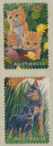 Australia 1996 SG1652-1653 Pets diecut pair MNH
