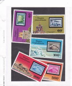 Central Africa # 295-296, C184-186, Zeppelin 75th Anniversary Used CTO, 1/2 Cat.