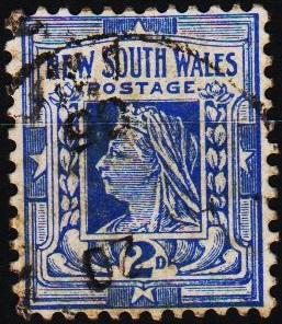 New South Wales. 1892 2d S.G.335 Fine Used