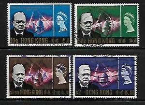 HONG  KONG, 225-228, USED, WINSTON CHURCHILL