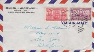 1948, Guam, Marianas Islands to San Jose, CA (23865)