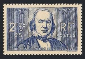 France B89,MNH.Michel 453. Claude Bernard,Physiologist.1939.