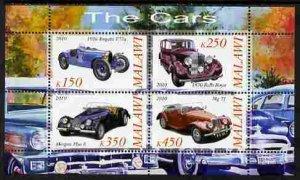 Malawi 2010 Cars Transport Royce MG Morgan Bugatti Mortoring S/S Stamps MNH (2)