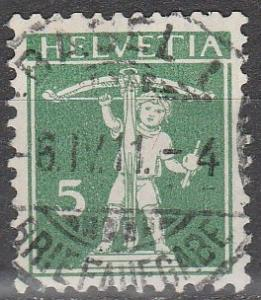 Switzerland #152 F-VF Used CV $6.50  (D1817)