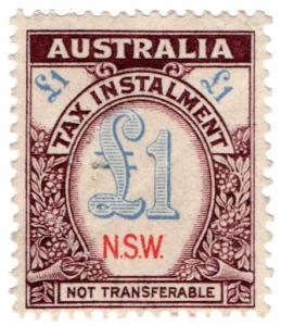 (I.B) Australia - NSW Revenue : Tax Instalment £1