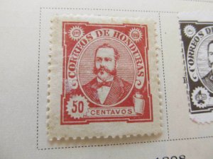 Honduras 1896 50c fine mh* stamp A11P11F26