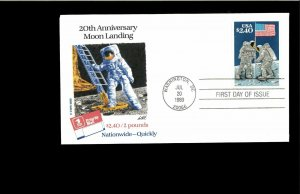 1983 FDC $2.40 Moon Landing Washington DC