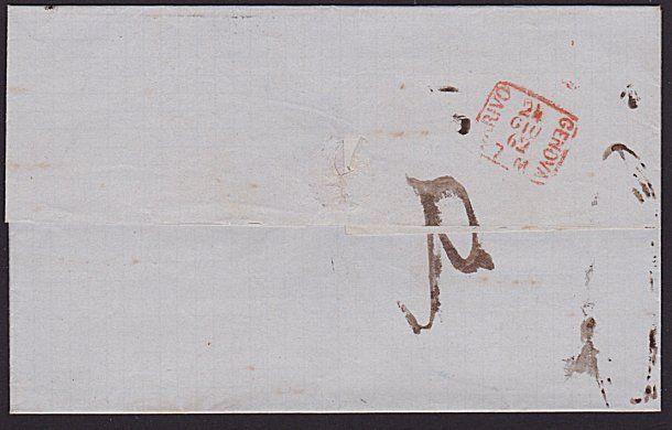 ITALY 1862 entire wrapper TORINO TO GENOA...................................7359