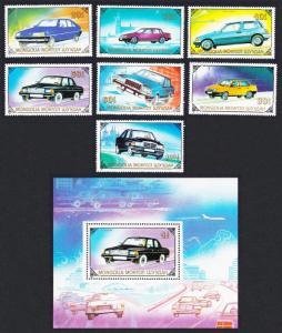 Mongolia Motor Cars 7v+MS SG#2035-MS2042 SC#1802-1808