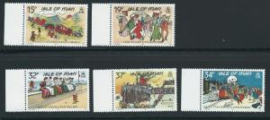 Isle of Man MUH SG 433 - 437 Margin Copy